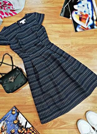 Женское идеальное плотное современное фактурное платье liz claiborne - размер 42