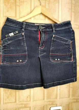 Стильная джинсовая мини юбка lady enyce