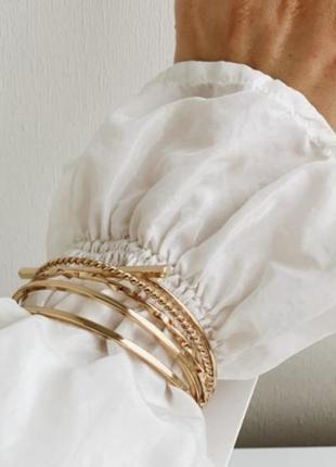 Набор браслетов кольца 5 шт h&m золото серебро браслет модная бижутерия тренд