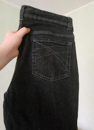 Джинсы черные, серые, marks & spencer, плотные, классика, прямые