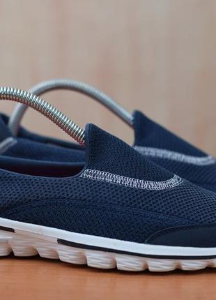 Женские синие слипоны, кроссовки, кеды skechers gowalk, 37 размер. оригинал