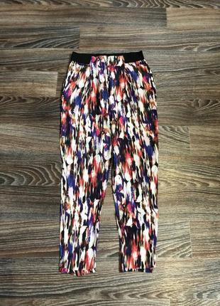 Разноцветные шифоновые повседневные брюки штаны (шифон - вискоза 100%) french connection