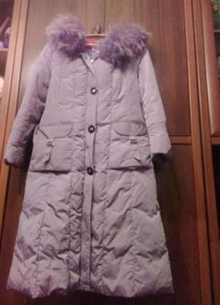 Отличное зимняя куртка- пальто пуховик