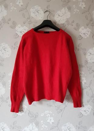 Качественный шертстяной свитер,ангоровый джемпер,красный джемпер,свитер с шерсти ламы