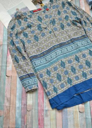 Вискозная легкая блуза в мелкий принт s.oliver