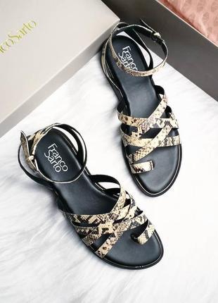 Franco sarto оригинал кожаные сандалии с принтом под змею