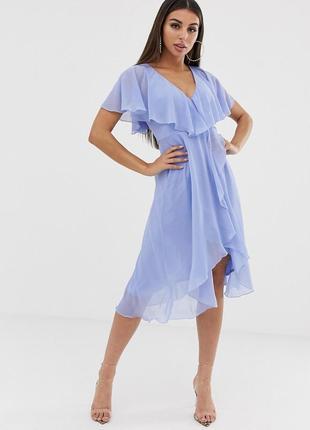 Невагома шифонова блакитна сукня