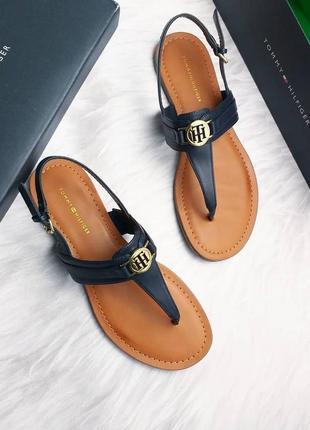 Tommy hilfiger оригинал синие босоножки сандалии