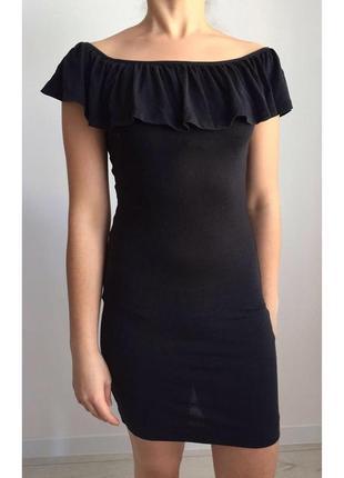 Черное платье, чорна сукня, плаття, летнее, клубное.