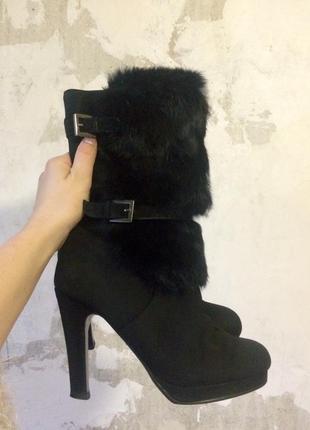 Зимние женские ботинки натуральная замша/ зимові черевики з натуральної замші  сапоги зима