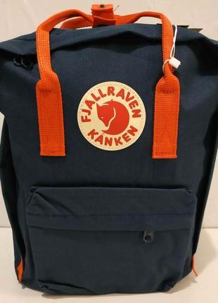 Тканевый рюкзак kanken (синий с красными ручками) 19-11-033