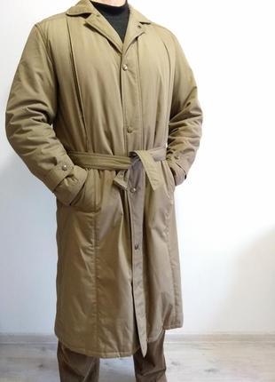 Фирменный мужской утепленный тренч. пальто на синтепоне. германия. плащ тёплый.