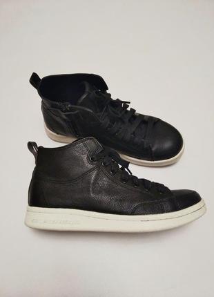 Кожаные фирменные высокие кеды кроссовки skecher street memory foam