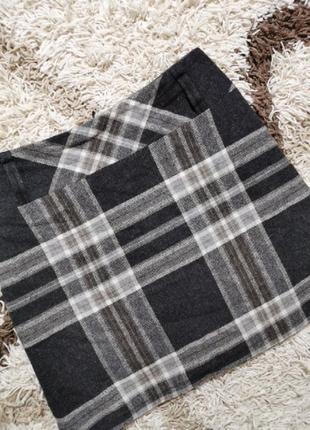 Тёплая юбка в клетку осень до колен прямая офисная gerry weber