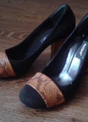 Шикарные туфли. натуральная кожа. бренд tucino 38р.
