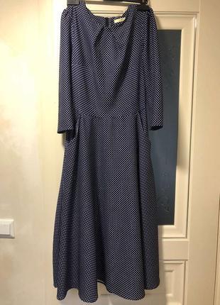 Платье макси в горошек!