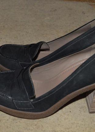 Туфлі шкіряні ecco, кожание туфли