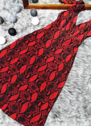 Платье с трендовым змеиным принтом new look