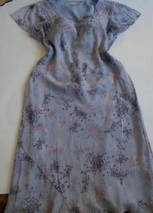 Платье 52 50  размер   шифоновое осеннее нарядное новогоднее повседневное