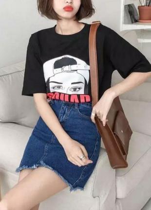 💙стильнячая джинсовая юбка с кисточками💙