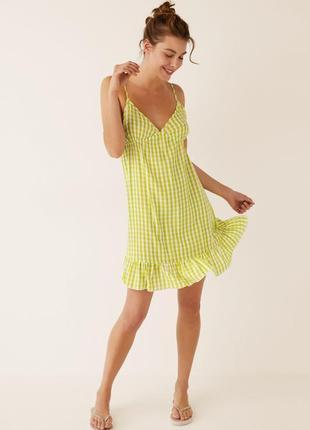 Ночная рубашка-платье ночнушка в клетку от women'secret