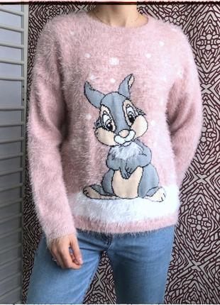 Теплый пухнастый свитер