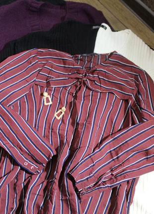 Блуза рубашка в полоску marks spencer