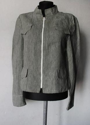 Куртка пиджак akris 100% лен