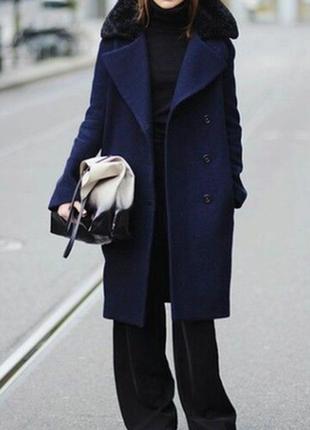 Шикарное пальто  кокон оверсайз зимнее шерсть 👑❤zara👑