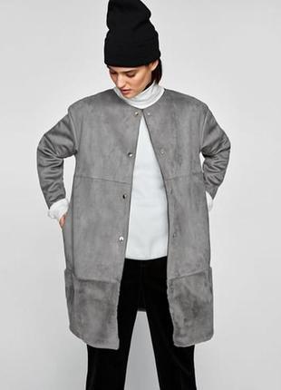 Zara )) стильне оригінальне пальто