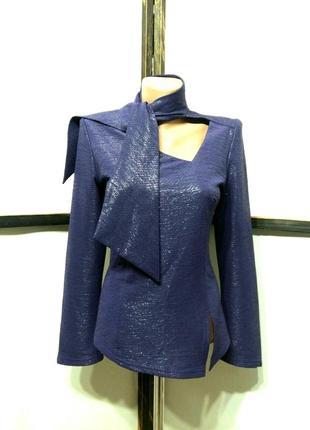 Праздничная нарядная вечерняя винтажная блуза с завязками бренд eva
