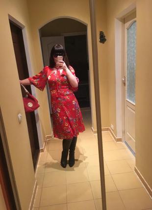 Платье mango красное
