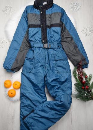 Теплый комбинезон горно-лыжный лыжный зимний детский на мальчика
