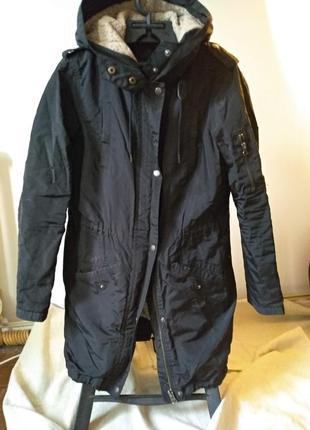 Утеплённая, водо и ветро защитная куртка, парка, пальто zara basic. s. еврозима.