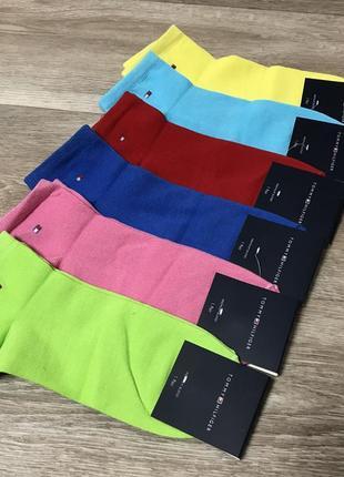 Набор женских носков, яркие носки спорт размер 35-39 tommy hilfiger