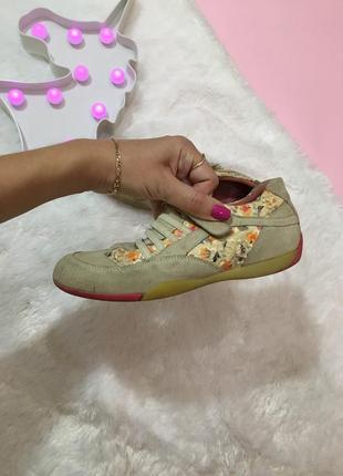 Кожаные{замшевые} кроссовки на липучках натур замша{кожа}