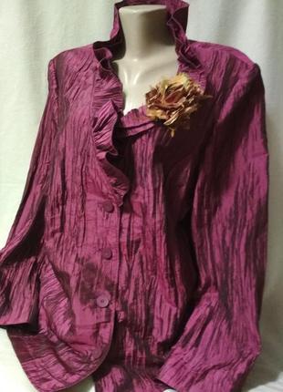 Нарядный пиджак 🔥,батальный размер. erfo original