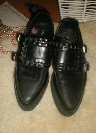 Мегакласні та зручні якісні шкіряні кріперси (туфлі, мокасіни) underground originals