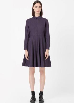 Стильное шерстяное платье  cos