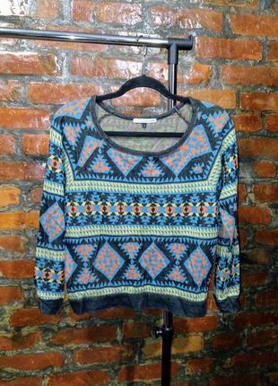 Пуловер джемпер свитер с принтом river island