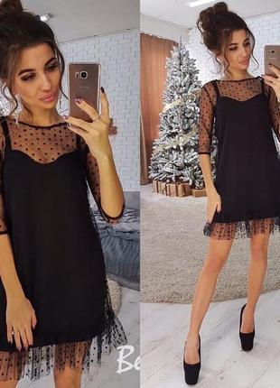 Актуальное новое трендовое платье с сеткой, новогоднее/вечернее/нарядное платье