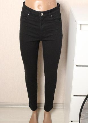 Черные джинсы скинни 36 размер h&m джинсы с высокой посадкой
