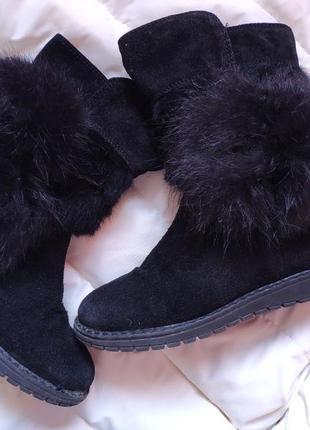 Сапожки зимние на цигейке ботинки угги