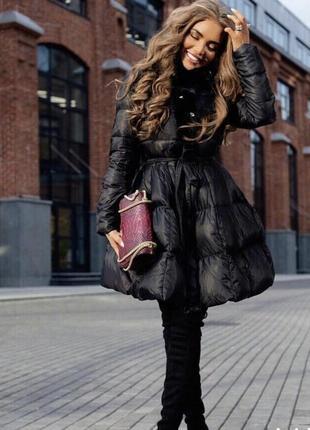Зимнее пальто с пышной юбкой!