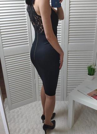 Платье-миди new look с красивой спинкой, p-p uk 6/xs или маленькая s