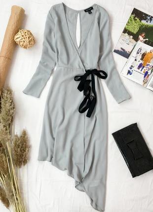 """Женственное платье с """"запахом"""" ассиметричной длины  dr1947011  new look"""