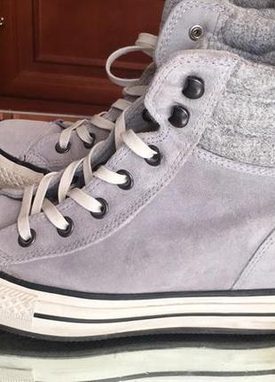 Замшевые ботинки-кеды converse (утеплённые),6/39(24,5 см)
