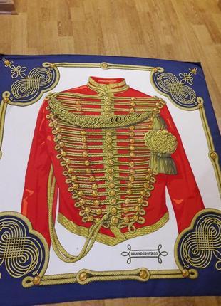 Шелковый платок hermes-paris brandebourgs.