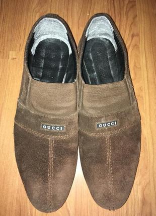 Срочно продам шикарные замшевые туфли gucci 100% оригинал!!!