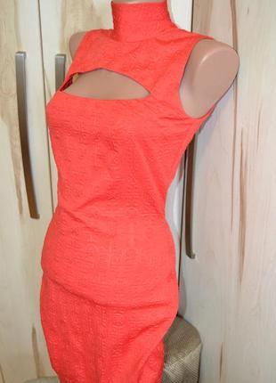 Вечернее красное обтягивающее короткое платье до колен сексуальное с принтом s/m/l